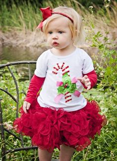 Candy Cane Cutie Collection Top, Skirt & Headband Available! 12 Months to 12 Years - Girls Christmas Dresses - Cassie's Closet