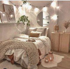 Room Design Bedroom, Room Ideas Bedroom, Home Decor Bedroom, Bedroom Inspo, Stylish Bedroom, Cozy Room, Aesthetic Bedroom, My New Room, House Rooms