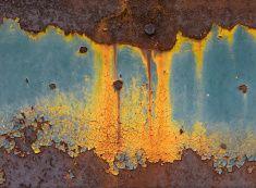 Astratto sfondo metallo Arrugginito stock photo