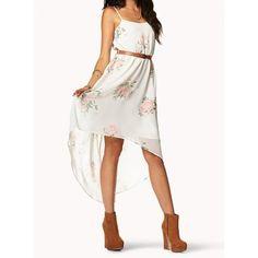 Irregular Hem Chiffon Elegant Fairy Harness Dress$49 (140 RON) found on Polyvore