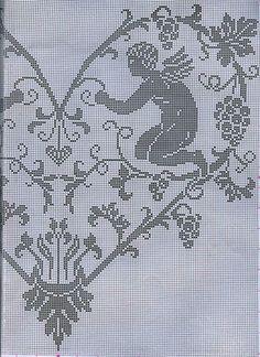 cuore angeli 2. && BOARD: agj crochet angeles Cross Stitch Angels, Cross Stitch Tree, Cross Stitch Heart, Counted Cross Stitch Patterns, Crochet Angel Pattern, Crochet Angels, Crochet Patterns, Cute Embroidery, Cross Stitch Embroidery