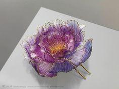 Exquisito adornos floral japonés para el cabello hechos a mano a partir de resina por Sakae - POP-PICTURE
