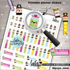Medicine Stickers Printable Planner Stickers von LetsPaperUp