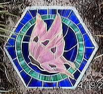 butterfly hexagonal stepping stone
