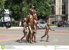 Russia  Mordovia republic  Saransk city veiw Sculpture of Family