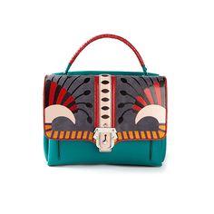 Paula Cademartori Leather and suede handbag
