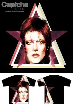 David Bowie Uniqlo - 'Starman' Design Entry  My competition to Uniqlo's 2011 Music orientated T Shirt Competition