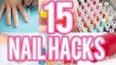 Life hacks para tus uñas que toda niña debe saber - nail hacks - Tutoria...