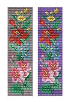 Bead Loom Floral Border 5 Bracelet Pattern PDF by MyTreasureIsland