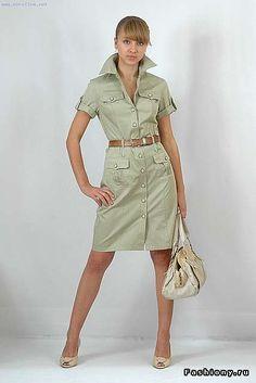 Выбираем платье-сафари / платье сафари фото