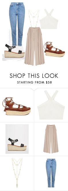 """""""Untitled #1"""" by evelinvcu ❤ liked on Polyvore featuring Stuart Weitzman, BCBGMAXAZRIA, Steve Madden, House of Harlow 1960 and Topshop"""