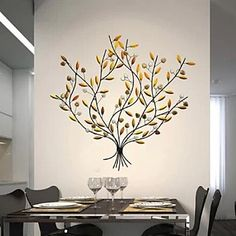 decoración de la pared arte de la pared de metal, la cosecha de fruta de árboles…