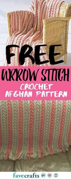 Arrow Stitch Crochet Afghan | This free crochet afghan pattern is read-tested and super easy. Learn how to crochet a brand new stitch (and blanket!) today.