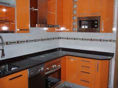 pequeñas cocinas naranjas - Buscar con Google