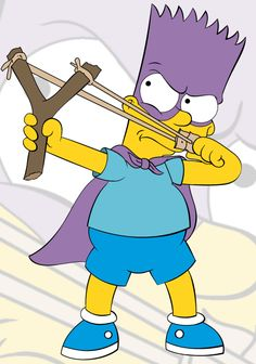 """Bartman taking an aim from """"The Simpsons"""""""