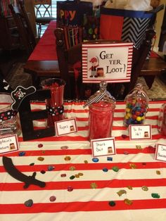 Candy at a Pirate party #pirateparty #candy