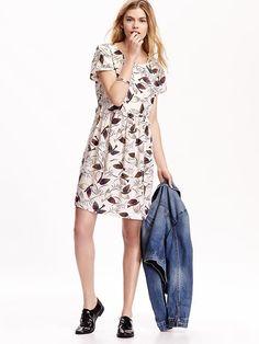 9f6b3ae01f Women s Printed Swing Dresses Teacher Outfits