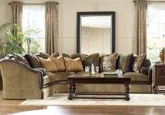 LOVE this sectional, and coincidentally it has leopard pillows ;-)  Someday in our forever home /Havertys Furniture