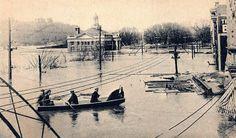 1913 Flood - On Front Street near the Post Office.