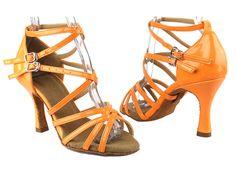 Latin Salsa Tango Very Fine Dance Shoes SERA5008 Flourescent Orange Pink Yellow #VeryFineShoes
