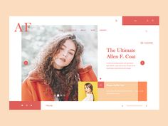 """Hello people, here is a landing page design from a concept project I have been working on recently. It is a portfolio site and online store for fashion designer Allen Frankin. Press """"L"""" to Lik..."""
