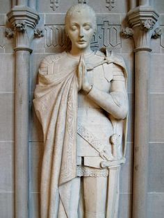 Joan of Arc at St John the Divine Cathedral sculpture by anna hyatt huntington. new york. The cathedral is located on Amsterdam Avenue between West Street and Street in Manhattan's Morningside Heights neighborhood. Joan D Arc, Saint Joan Of Arc, St Joan, Jeanne D'arc, Mystique, Effigy, Catholic Saints, Women In History, Religious Art