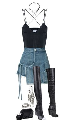 """""""No angel #1"""" by psannahia ❤ liked on Polyvore featuring Shakuhachi, Sandy Liang, Givenchy, Anni Jürgenson, Giles & Brother, Elizabeth and James and Eddie Borgo"""