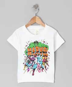 Take a look at this White Marvel Superhero Action Tee - Toddler by Marvel on #zulily today!