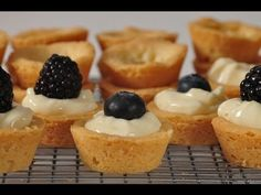 Shortbread Tarts with Cream Cheese Citrus Filling - I usually top with kiwis and strawberries :)