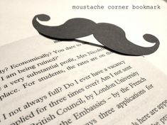 Moustache Bookmark