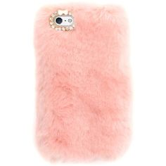 RABIT FUT IPHONE CASE at Shop Jeen   SHOP JEEN ($35) ❤ liked on Polyvore featuring accessories, tech accessories, phone case, pink, cases, electronics, pink iphone case, iphone cover case and iphone sleeve case
