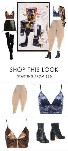 """jean michel basquiat"" by bk2cb ❤ liked on Polyvore featuring Topshop, Boohoo, Paul Smith, Maison Margiela and Yves Saint Laurent"