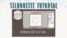In this video, I show you how to attach text to the top and bottom of a circle.