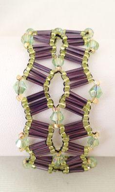 Green and purple safari bracelet by Hellenna on Etsy, £20.00