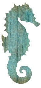 Artist Suzanne Nicoll's wonderful image of the silhouette of an aqua colored mermaid facing to the left printed directly onto a distressed wood panel creating a unique and rustic approach to her art.
