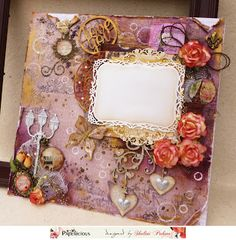 Papericious: Mixed Media frame with Circular collage sheet and ...
