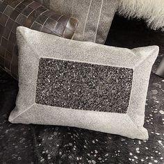 Hair on Hide Grey Beaded Glam Pillow | Arhaus Furniture