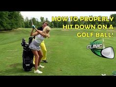 Swing Clinic: Elise Lobb learns how to hit down on a golf ball - YouTube