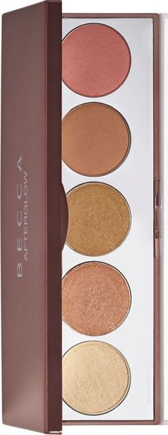 The Becca Afterglow Holiday 2015 Collection brings together a new Afterglow Palette that pays home to five different shades of Becca Shimmering Skin Perfec