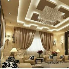 4 Clear Tips: False Ceiling Design Spices false ceiling lights modern.False Ceiling Design With Wood false ceiling drywall. Home Ceiling, Room Design, False Ceiling Design, Diy Ceiling, Cove Lighting Design, Living Room Ceiling, Ceiling Design Modern, Drawing Room Interior, Living Room Designs