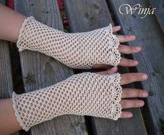 Boho chic fingerless gloves, cotton crochet fingerless gloves, wedding gloves, lace fingerless gloves, white crochet gloves, crochet mittens
