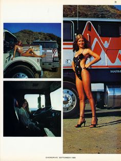 Big Rig Trucks, Semi Trucks, Cool Trucks, Trucks And Girls, Car Girls, 6x6 Truck, Pin Up, Train Truck, Custom Big Rigs