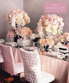 Dusty rose wedding table linens..really like these colors but instead of black i would use gold