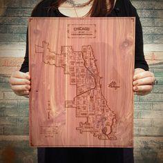 Chicago Map 11.5x14.25