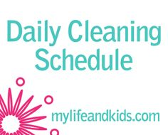 Busy moms can't spend all day cleaning. My cleaning schedule means that I'm cleaning for a short time every day and keeping my house clean enough. Get your home and life together with this quick daily cleaning schedule. Daily Cleaning, House Cleaning Tips, Diy Cleaning Products, Cleaning Hacks, Cleaning Supplies, Cleaning Schedules, Office Organization Tips, Organizing Tips, Clean House Schedule