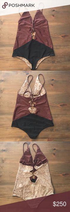 "FINAL SALE Acacia Swimwear Kokomo M Acacia Swimwear Style: Kokomo Size:M Color: Merlot / Shadow  Condition: ""Like new"" Worn once for a few hours, No chlorine. Hand washed put in bikini bag acacia swimwear Swim One Pieces"
