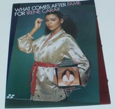 Irene Cara Music Ad Hit Album Anyone Can See Full Page Color Advert
