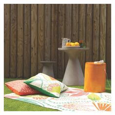 The Milton round concrete garden stool and table is a compact design that's perfect for smaller outdoor spaces. Buy now at Habitat UK. Garden Furniture Design, Outdoor Garden Furniture, Small Outdoor Spaces, Garden Makeover, Concrete Garden, Printed Cushions, Al Fresco Dining, Garden Table, Beautiful Space