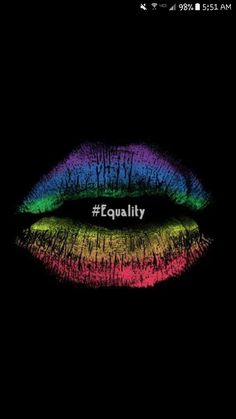 Image discovered by AnGyy Ramos. Find images and videos about kiss, lips and rainbow on We Heart It - the app to get lost in what you love. Lesbian Pride, Lesbian Love, Rainbow Lips, Rainbow Colors, Taste The Rainbow, Rainbow Things, Rainbow Pride, Lip Art, Rainbows