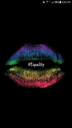 Lesbian Pride, Lesbian Love, Rainbow Lips, Rainbow Colors, Taste The Rainbow, Rainbow Things, Rainbow Pride, Lip Art, Black Backgrounds